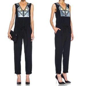 Sass & Bide Telegram Sequin Jumpsuit Black Medium
